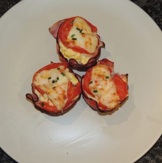 Scrambled Egg & Ham Cups